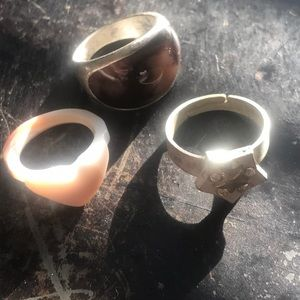 Lot of 3 Faux Silver Rings 🌿🌿🌿